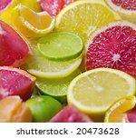 mixed citrus fruit | Shutterstock . vector #20473628