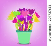 flower beautiful pot | Shutterstock .eps vector #204737686