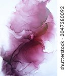 Closeup Alcohol Ink Abstract...