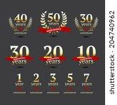 vector set of anniversary...