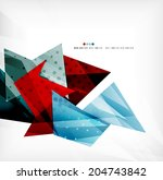3d futuristic shapes abstract... | Shutterstock . vector #204743842