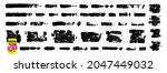 grunge paint strokes set. ink...   Shutterstock .eps vector #2047449032