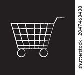 shopping cart line icon design  ...
