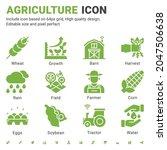 agriculture icon set design...