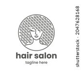 hair salon logo template.... | Shutterstock .eps vector #2047628168