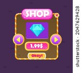 game ui window shop diamond...