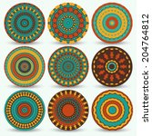 set of bright circle elements... | Shutterstock .eps vector #204764812