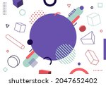 abstract modern geometric...   Shutterstock .eps vector #2047652402