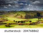 landscape with farmland and... | Shutterstock . vector #204768862