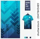 soccer jersey pattern design.... | Shutterstock .eps vector #2047845485