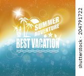abstract summer background. | Shutterstock .eps vector #204791722