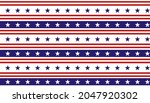 stars and stripes seamless...   Shutterstock .eps vector #2047920302
