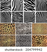 animal skin fur vector pack... | Shutterstock .eps vector #204799942