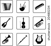 musical instruments black and... | Shutterstock . vector #20480234