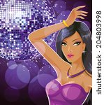 disco portrait | Shutterstock .eps vector #204803998