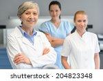 medical team of three... | Shutterstock . vector #204823348
