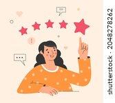 customer review concept... | Shutterstock .eps vector #2048278262