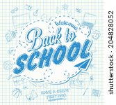 back to school background of... | Shutterstock .eps vector #204828052