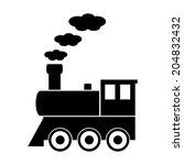 locomotive sign on white... | Shutterstock .eps vector #204832432