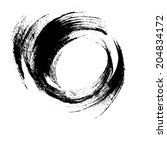 hand drawn element  round black ... | Shutterstock . vector #204834172