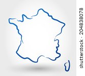 map of france. map concept | Shutterstock .eps vector #204838078