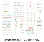 floral decor set. different... | Shutterstock .eps vector #204847702