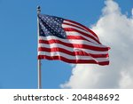 flag of the united states ... | Shutterstock . vector #204848692
