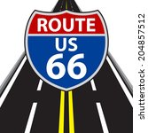 route 66 road sign   Shutterstock .eps vector #204857512