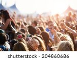 audience at outdoor music... | Shutterstock . vector #204860686