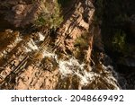 Water Trickling Down A Cliff...