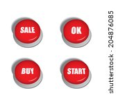 red buttons with various... | Shutterstock .eps vector #204876085