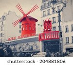 The Moulin Rouge With Retro...