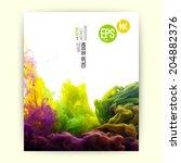 vector abstract cloud. ink... | Shutterstock .eps vector #204882376