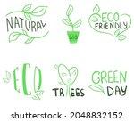 Set Of Handwritten Eco And...
