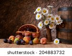 Daisy Flowers In A Vase With...