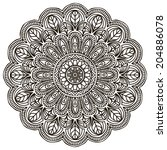 mandala. round ornament pattern.... | Shutterstock . vector #204886078