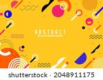 background with flat geometric...   Shutterstock .eps vector #2048911175