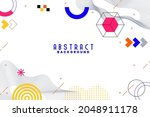 background with flat geometric...   Shutterstock .eps vector #2048911178