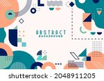 background with flat geometric... | Shutterstock .eps vector #2048911205