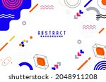 background with flat geometric... | Shutterstock .eps vector #2048911208