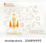 business infographics  start up ... | Shutterstock .eps vector #204896995