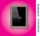 vector modern black frame on... | Shutterstock .eps vector #204898936