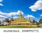 Golden Wat Thap Luang In...