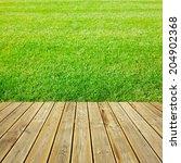 striped wooden plank terrace... | Shutterstock . vector #204902368