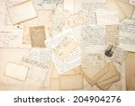 old letters  handwritings and... | Shutterstock . vector #204904276