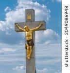 Golden Crucified Jesus Christ...