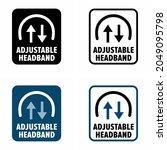 """adjustable headband"" vector... | Shutterstock .eps vector #2049095798"