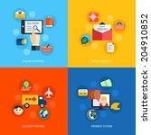 internet shopping online email... | Shutterstock . vector #204910852