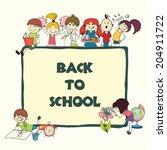 decorative back to school... | Shutterstock . vector #204911722