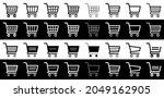 shopping cart icons set ...